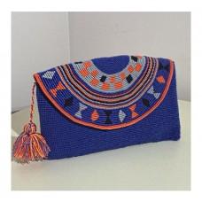 Mavi Kapaklı Clutch Çanta
